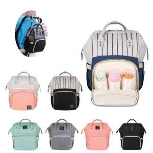 Большая емкость Мамочная сумка для беременных Подгузник Подгузника Сумка Bolsa Maternida Parted Bebe Bag Travel Backpack Desiger Kears Care Y200107