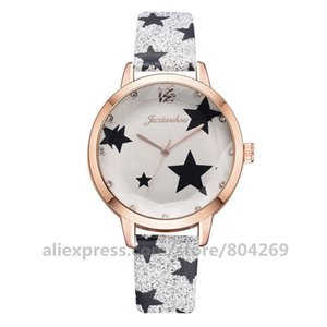 Female Elegant Wrist Watch Analog Quartz Leather Band Luxury Star Dial Bracelet Women Watch Girl Clock B1205