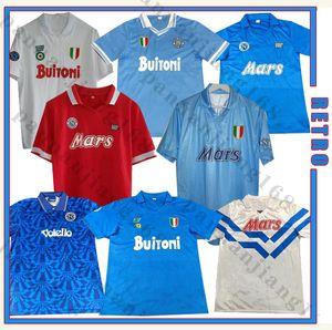 Napoli 1986 87 88 89 91 92 Napoli Retro Maradona Soccer Jersey Maradona 87 88 91 92 Zielinski Hamsik insigne 나폴리 빈티지 축구 셔츠