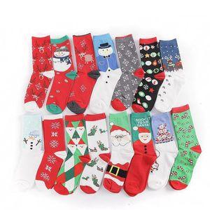 Cute Cartoon Elk Deer Winter Women Red Sock Cotton Keep Warm Baby Girl Boy Soft Socks Christmas Decoration DHA2090