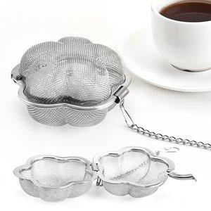 Stainless Steel Tea Strainer Plum Shape Home Coffee Vanilla Spice Filter Diffuser Creativity Tea Infuser Accessories