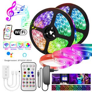 YENİ WIFI Şerit LED Işık RGB 5050/2835 Esnek Şerit Fita RGB Led Işıklar Bant Diyot 20M-5M DC 12V ve WIFI Kontrolörü