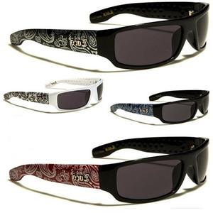 New Locs Flat Quadro Gangster Chicano Bandana Impresso óculos de sol