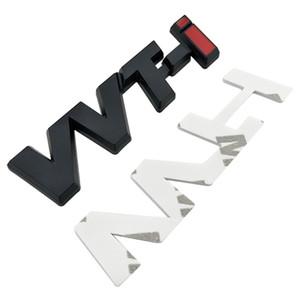 Logo in lega di metallo VVTI logo Chrome Silver Strip Strip Car Fender Sticker Side Emblem Badge per Toyota Camry Corolla Yaris Ralink Reiz Corona