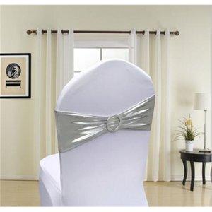 Silla de precio de fábrica Acabado Edge Spandex Lycra Bandas Bandas elásticas con hebilla para la boda