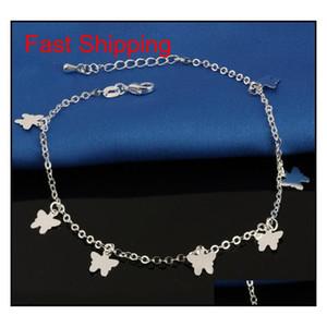 Nouveau Bracelet de la cheville Stralle Sterling 925 pour les femmes Bijoux Foot Bijoux Inlaid Zircon Anklets Bracelet sur une jambe JLAOL BDEGARDEN