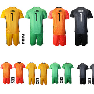 EURO 2021 National Team Kids Goalkeeper Soccer Jersey France Green Red Yellow Childrens Football kit LLORIS Mandanda Infant Home Away KIT