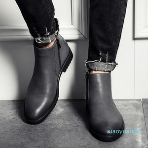 Hot Sale- men cheap shoes Best Selling 2020 new fashion mens casual Martin boots big size lower leather shoes high quality