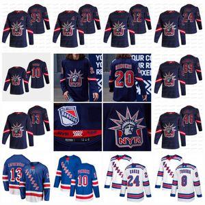 13 Alexis Lafreniere New York Rangers 2021 Reverse Retro Kaapo Kakk Jacob Trouba Artemi Panarin Mika Zibanejad Chris Kreider Skjei Jersey