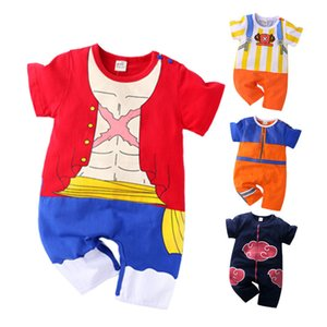 Newborn Baby Boy Clothes Akatsuki Costume Romper Cotton Infant Jumpsuit Cartoon Uzumaki Anime Naruto Hatake Kakashi Girl Outfits
