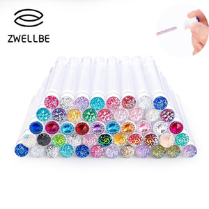 Reusable Eyelash Extender Brush Disposable Eyebrow Brush Separate Tube Design Crystal Diamond Bottom Mascara Stick Applicator