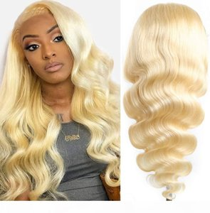 Mel Loira Lace Perucas Para As Mulheres Moda Ombre Perucas Loiras Para As Mulheres Brown Enraized Perucas Reino Unido Best Human Front Lace Wig Natural