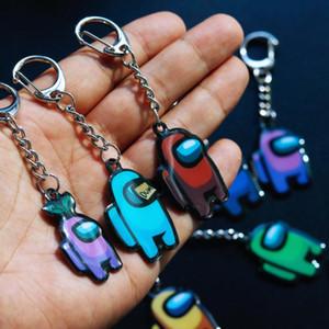 8 가지 색상의 핫 게임 중 키 체인 애니메이션 귀여운 만화 아크릴 다채로운 키 링 선물 키 체인 자동차 키 장식 액세서리 E111905