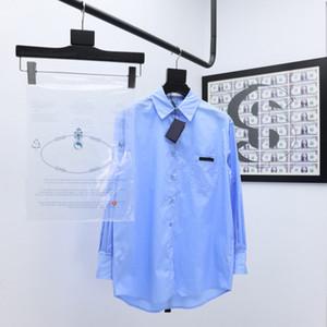 20SS Womens Designer Camisas de Manga Longa Street Sexy Blusa Poplin Poplin Fino e confortável Casal All-Match Full-Choton Shirts Frete Grátis