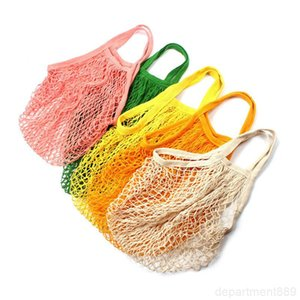 Grocery Reusable Shopper Tote Fishing Large Size Mesh Net Woven Cotton Portable Shopping Bags Home Storage Bag OWC3580