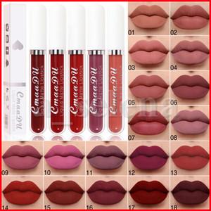 Cmaadu 18 cores líquido batom fosco à prova d 'água duradoura sexy nus lip brilho maquiagem beleza lipgloss vermelho