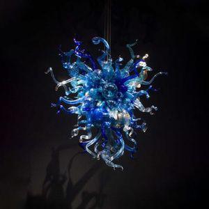 Lampada da soffitto a soffitto in vetro blu Murano LED Plafoniere a LED Plafoniera in vetro di Murano Villa Decor LED High Hanging Lampadari