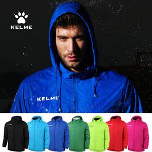 KELME Mens Hidden Hoodie Jacket Autumn Football Sports Training Jacket Windproof And Waterproof Outdoor Tracksuit K15S604