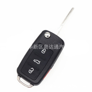 4 Buttons Car Key Shell For VW Caddy Eos Golf Jetta Beetle Polo Up Tiguan Touran 5K0837202AD Case Cover Folding Flid