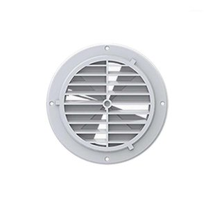 ABS Adjustable Car Outlet Ceiling Mount Cover Air Vent Ventilation With Fan Durable RV Trailer Universal Parts White1