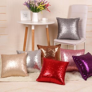 Mermaid Pillow Cover Sequin Pillow Cover sublimation Cushion Throw Pillowcase Decorative Pillowcase That Change Color Gifts BWD2346