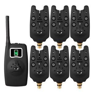 Wireless Fishing Bite Alarms Set Digital Fishing Alarm Kit LED Alarm Indicator Alert Bell Receiver Fishing Tackle Box