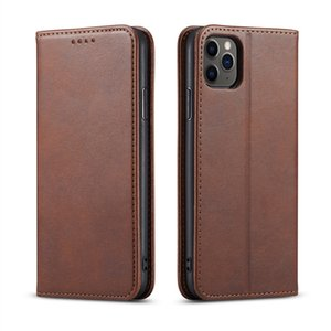 In Stock For iPhone 12 11 PRO MAX Case PU Wallet with Photo Frame Slot Leather Case for S10 PLUS Note 9 PLUS