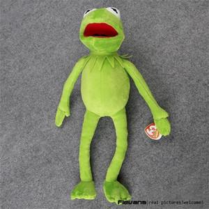 뜨거운 판매 14 '40cm Kermit 플러시 장난감 참깨 스트리트 인형 박제 동물 명기 장난감 봉제 개구리 인형 휴가 선물 Y200703