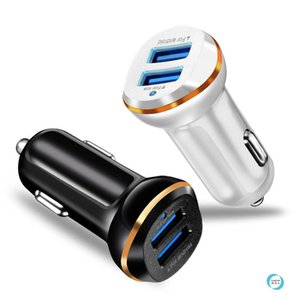 Auto Dual USB Car Charger Phnom Penh 3.1A Adapter Fast Charging Car Charged with LED Light Emitting Dual USB Car Mobile Charger