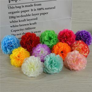 1pc 5cm Decorative Artificial Silk Carnation Imitation Flower Heads For DIY Wedding Hair Dress Scrapbooking Accessories