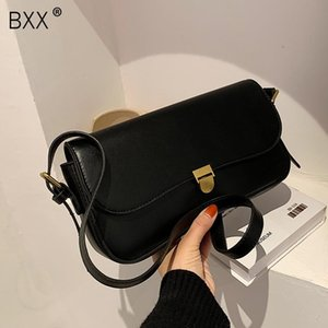 [BXX] Small PU Leather Bags For Women 2020 Winter Shoulder Handbags and Purses Female Trending Cross Body Bag HP783