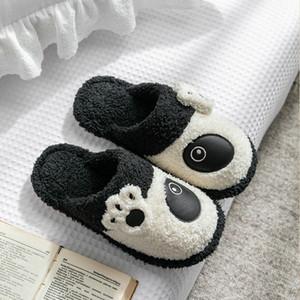 Winter Kids Slippers Toddler Girls Animal Panda Flip Flop Plush Parent Slides Baby Boys Indoor Shoes Warm House Children Slipper X1020