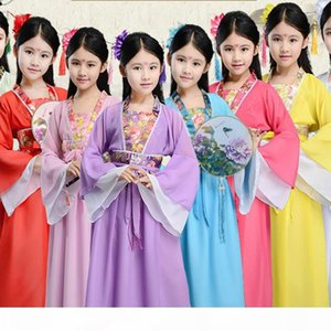 traditional chinese folk dance dance costumes ancient opera tang dynasty han ming child hanfu dress clothing girl kids children