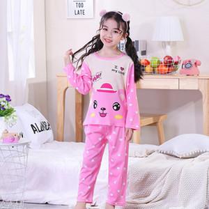 Girls Pajamas Sets Printed Pyjamas Kids Sleepwear Home Cartoon Baby Boys Pijama 2-13Y Teens Clothes Suit Q1203