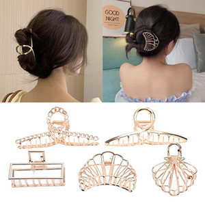 Women Girls Geometric Metal Hair Claw Clip Clamps Hair Crab Multi Shape Clip Hairpin Accessories Gifts