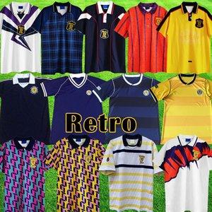 Scotland Escocia Retro 1982, equipo de camiseta de fútbol, kits caseros azules 1982 1983 ESCOCIA camiseta de fútbol retro tops