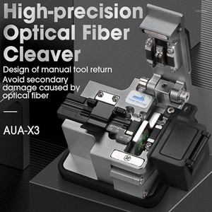High Precision Fiber Cleaver AUA-X3 FTTH Cable Fiber Optic Cutting Knife Tools Cutter Three-in-one clamp slot 24 Surface Blade1