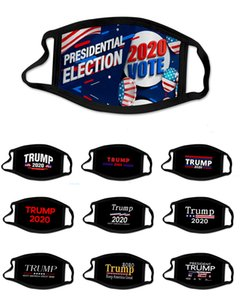Face Mask Trump 2020 American Election Supplies Fashion US Flag Printing Washable Reusable Masks in stock