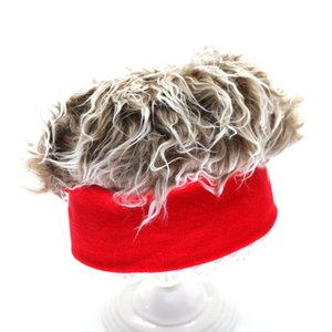 Luxury-Wig Knitted Hat European And American Retro Brimless Hat Sailor Melon Skin Rogue Landlord