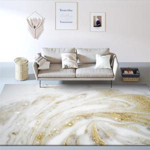 2020 Marble Pattern White Gold Carpet Nordic For Bedroom Beside Rug Fashion Geometric Carpet Kitchen Floor Mat Big Rugs