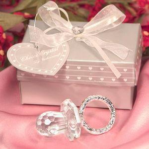 Party Hool 12 Шт. / Лот Детский Душ Форс Первый день рождения Подарки для гостей Крещение Сувенир Симпатичные Crystal Pacifier1