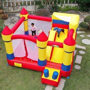 Quintal Indoor e Ao Ar Livre Nylon Home Uso Bouncy Castelo Inflável Jump Trampoline Bouncer Casa de salto com slide
