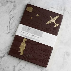 A6 Little Prince Fox Pilot Notepad Horizontal Leather Diary Notepad Leather Diary Personal Diary Memos Accounts Recording Travel Journal