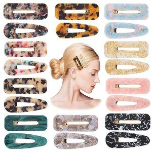 Sevimli Stil Kızlar Kadınlar Için Saç Klip Su Damlası Şekli Tokalar Dokulu Geometrik Duckbill Barrette Hairpin Saç Aksesuarları OWA2670
