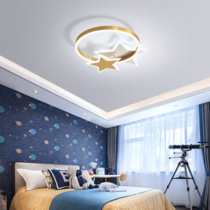 Children's room bedroom copper ceiling lamp modern minimalist creative living room study dining room nordic staircase ceiling light RW490
