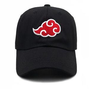 100% Cotton Japanese Akatsuki Anime Naruto Dad Hat Uchiha Family Embroidery Baseball Caps Black Snapback Hats Dropship