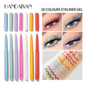 HANDAIYAN 20 Color Matte Eyeliner Gel Pencil Easy to Wear Colorful White Yellow Blue Eye Liner Pen Cream Makeup Cosmetics