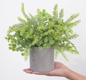 Simulazione eucalipto in vaso nordico tavolino domestico decorazione top decorazione fiore floreale simulazione fiore pianta bonsai fiori decorativi