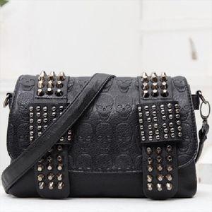 Fashion Punk Rivet Faux Leather Crossbody Bags Shoulder Bag For Women 2020 Hand bags Gothic Designer Female Bolsos Mujer