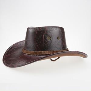 Halloween cowboy cap Visor Travel Performance Western Hats Costume men women horse riding sun hat leather Outdoor Wide Brim cap T200103